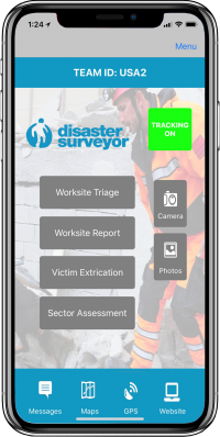 Disaster Surveyor Home Screen